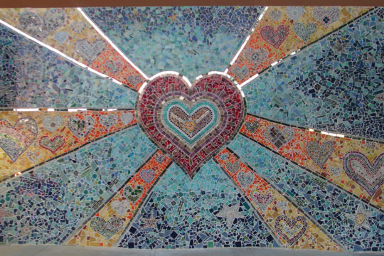 Rays of Love <br /> a community mosaic project <br />Richmond, CA