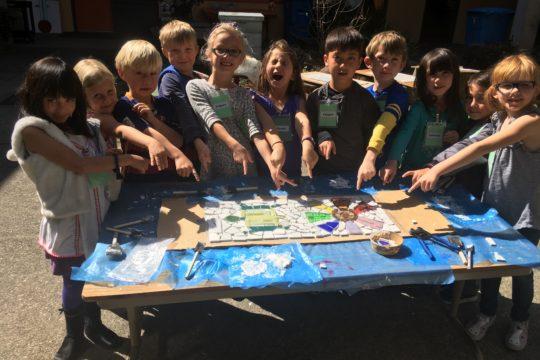Beautifying a School <br /> 3 Years in a Row!<br /> Grattan Elementary School