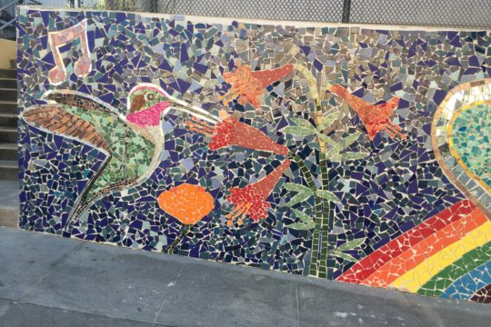 Largest Project to-date!!<br /> a 2500 sqft mosaic mural <br />Longfellow Elementary School, SF